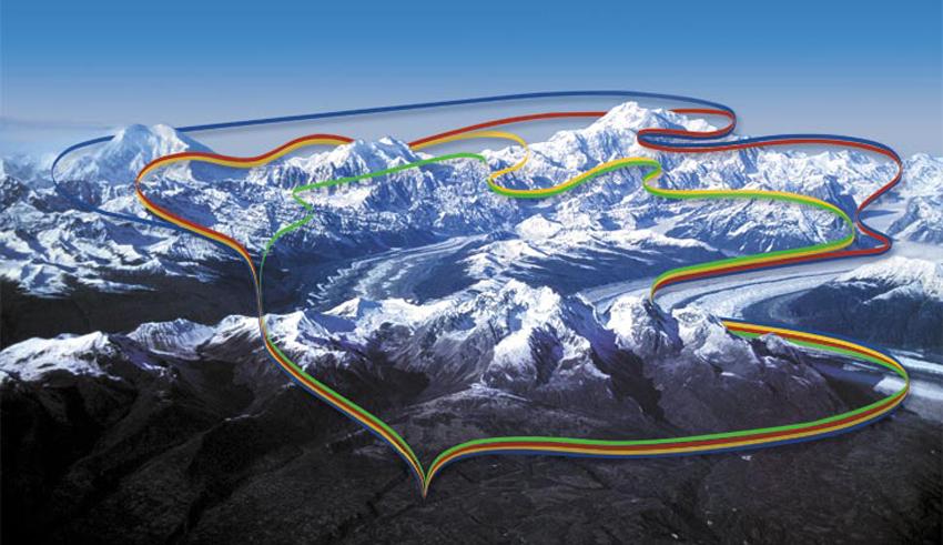 《原创摄影》:雪域飞天丹那力(1)- 梦中的阿拉斯加之十七 ... ... ... ... ... ...  ..._图1-3