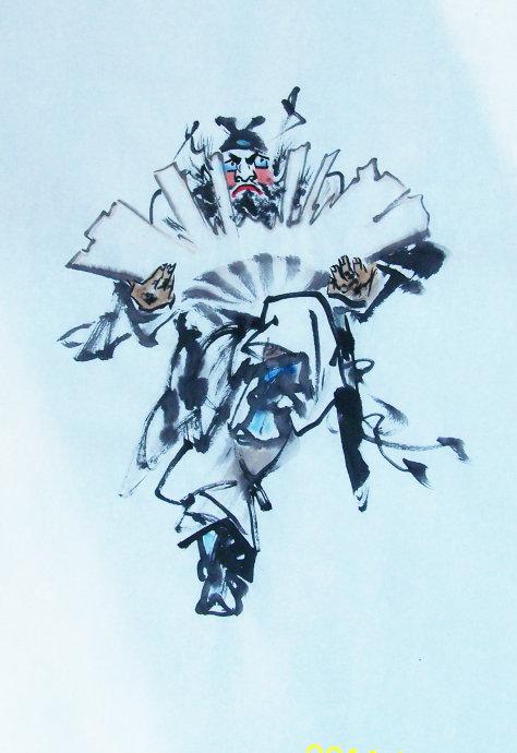 [转] 凛烈威风护众生 ——王丙库《钟馗》作品赏析 王学明_图1-1