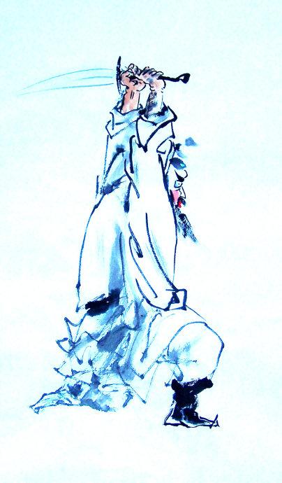 [转] 凛烈威风护众生 ——王丙库《钟馗》作品赏析 王学明_图1-3