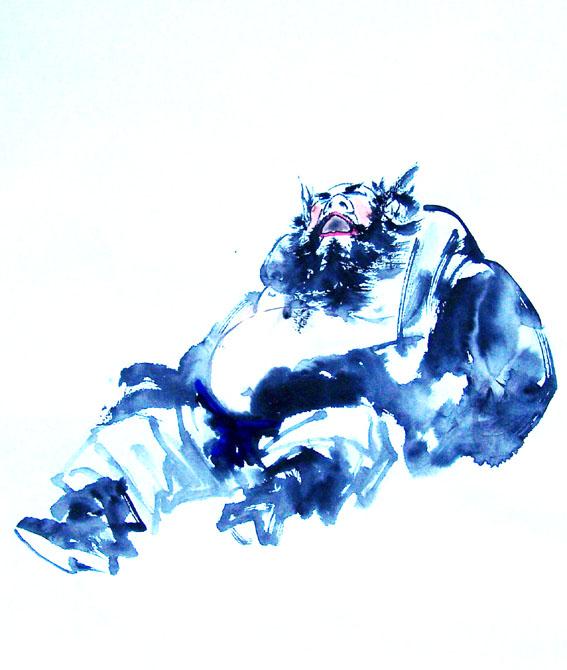 [转] 凛烈威风护众生 ——王丙库《钟馗》作品赏析 王学明_图1-4
