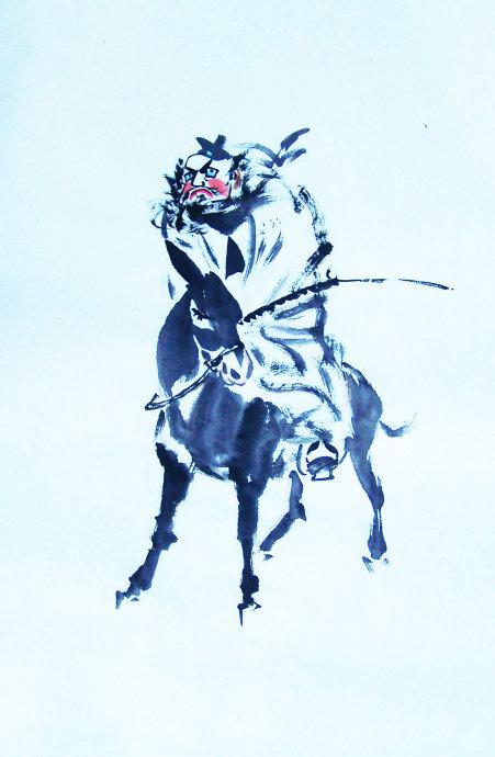 [转] 凛烈威风护众生 ——王丙库《钟馗》作品赏析 王学明_图1-5