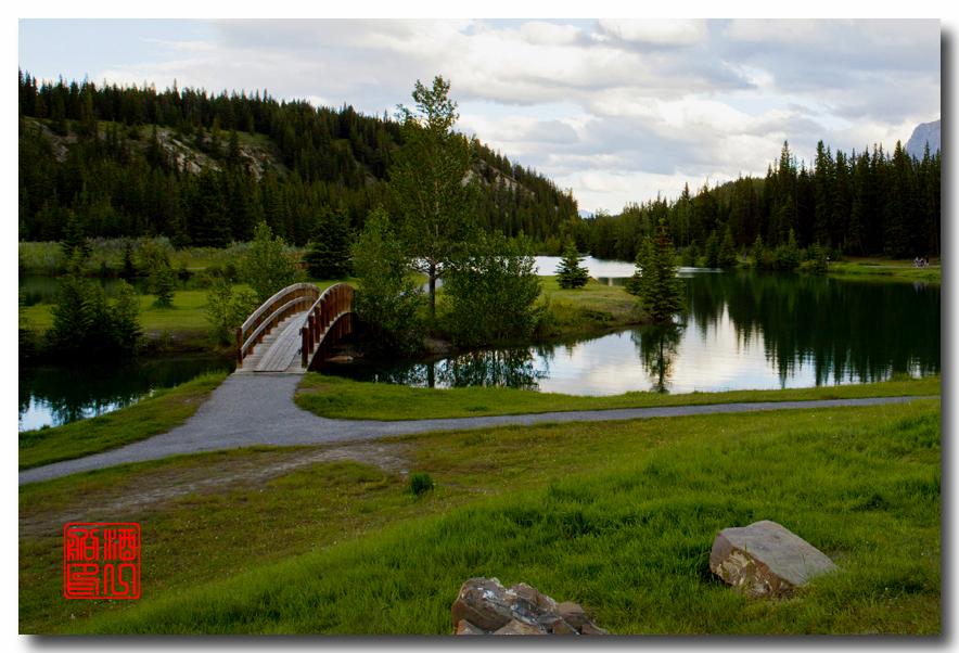 《原创摄影》:湖光山色落基行 - Banff 城边的湖_图3-2