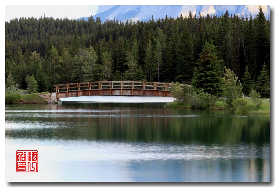 《原创摄影》:湖光山色落基行 - Banff 城边的湖_图3-4