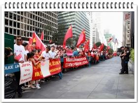 【风之影】纽约华人保钓示威(二)