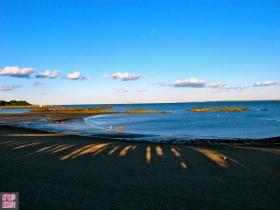 九月的海,黄昏的颜!