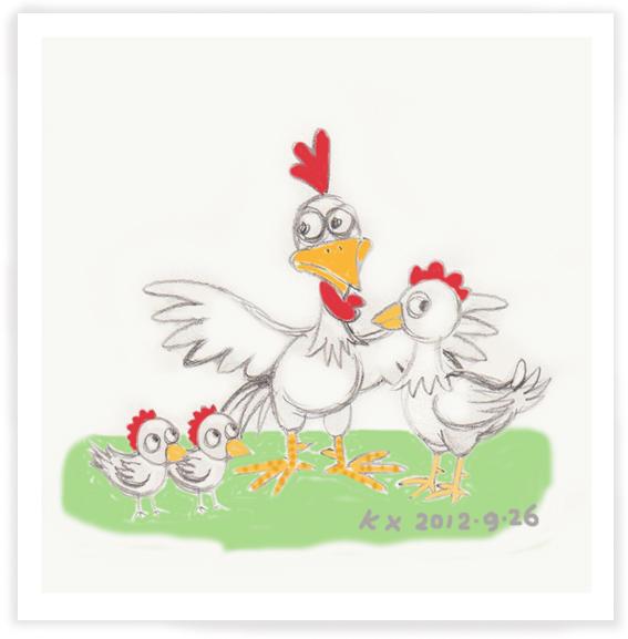 【邝幸插画】左小鸡一家亲!_图1-1
