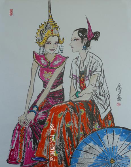 张广才教授三幅作品参加江苏教育学院建院60周年美术作品展_图1-4