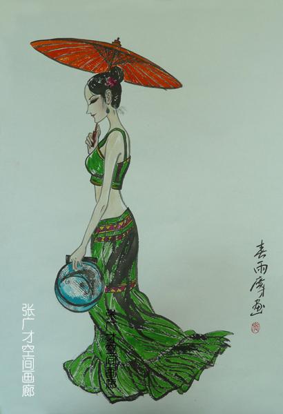 张广才教授三幅作品参加江苏教育学院建院60周年美术作品展_图1-5