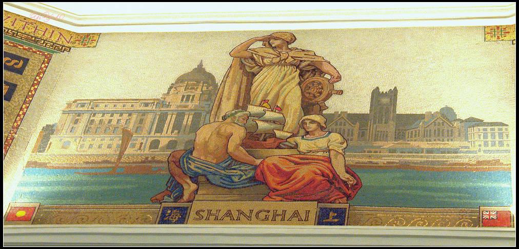 【原創】上海浦發銀行的總部之八角亭與壁畫(攝影)_图1-3