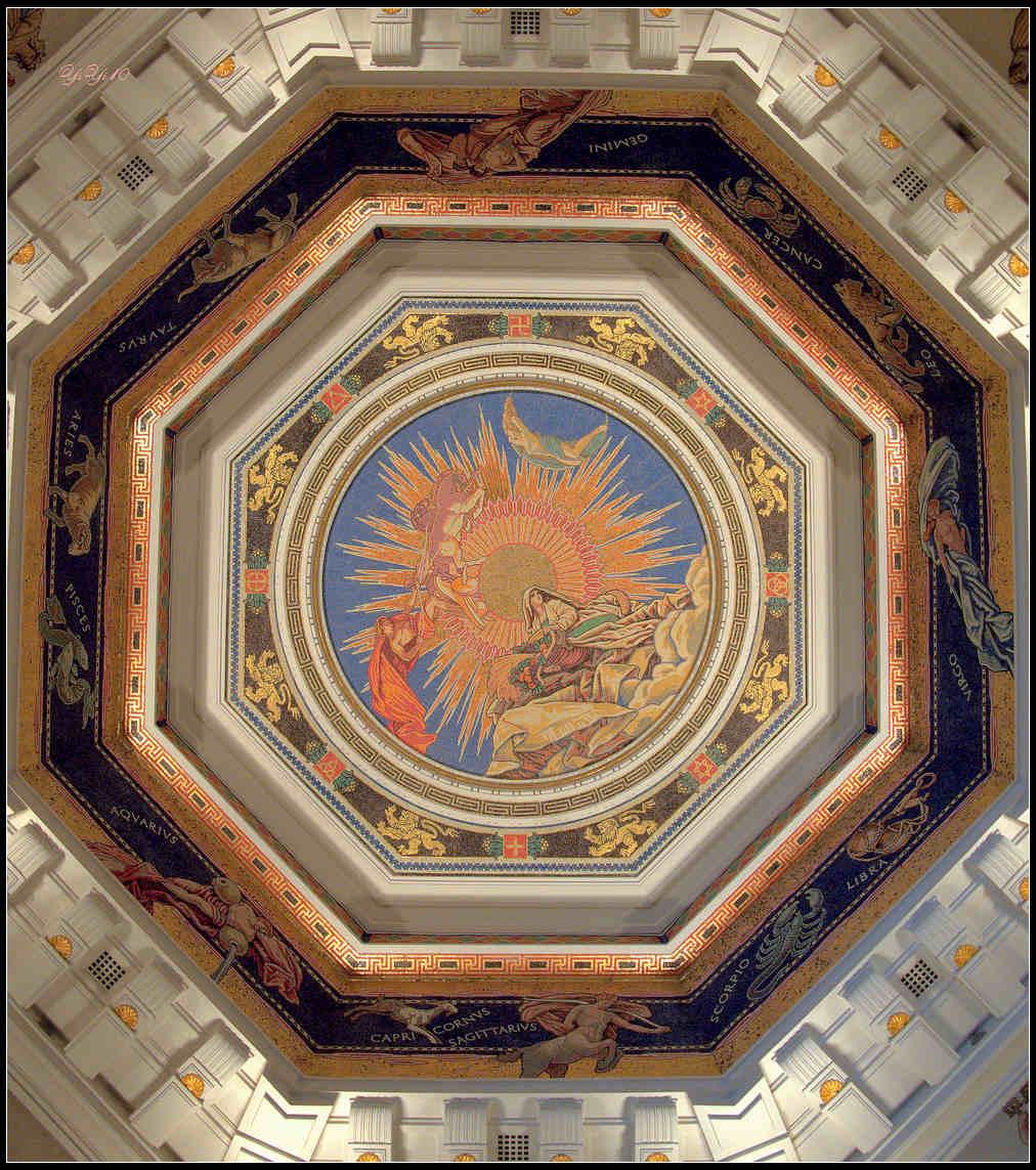 【原創】上海浦發銀行的總部之八角亭與壁畫(攝影)_图1-2