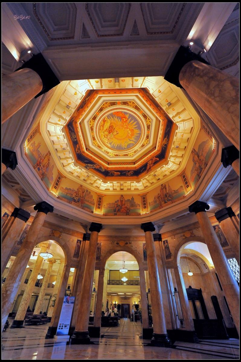 【原創】上海浦發銀行的總部之八角亭與壁畫(攝影)_图1-11