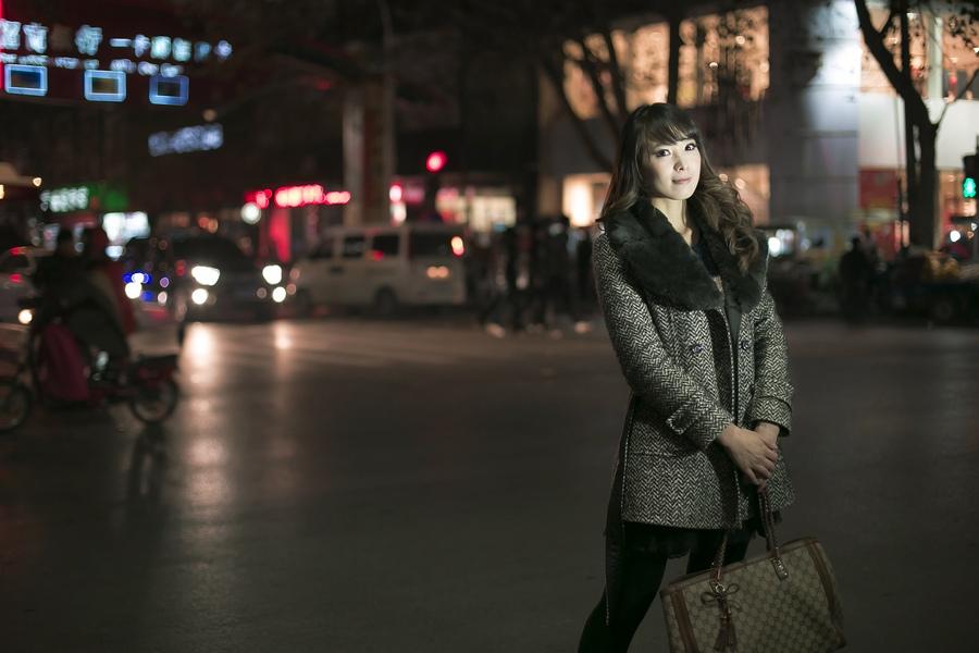 一个人的夜---临沂女孩张夏街拍_图1-3