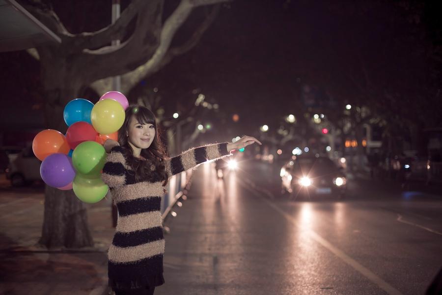 一个人的夜---临沂女孩张夏街拍_图1-10