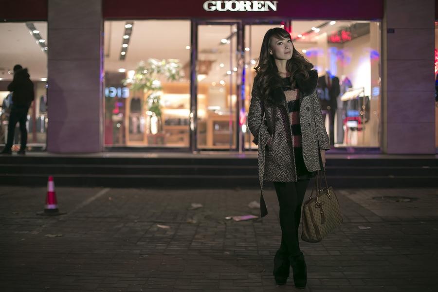 一个人的夜---临沂女孩张夏街拍_图1-11