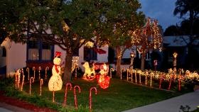 我家附近的圣诞灯光
