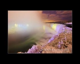 Colorfull Niagara Falls