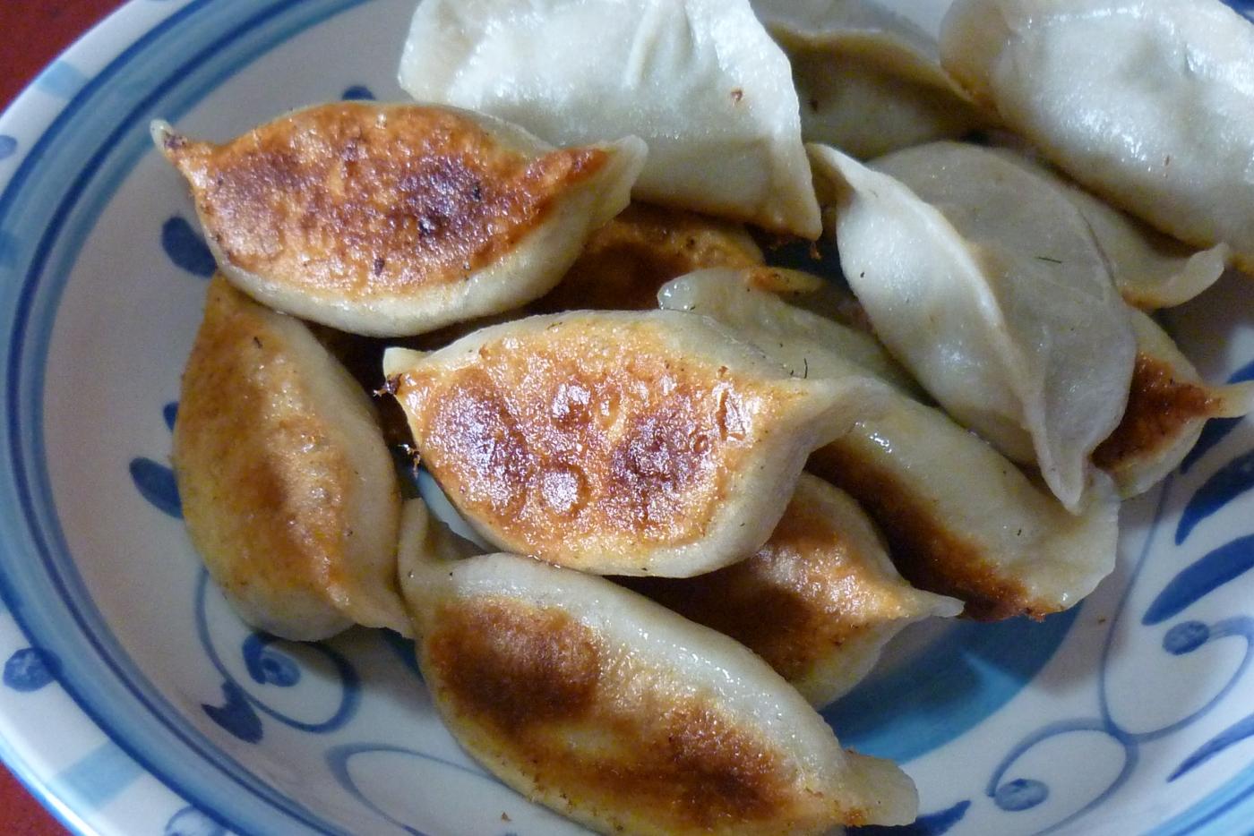《江南小菜》----炒豇豆和煎饺     请红酒兄鉴赏_图1-4
