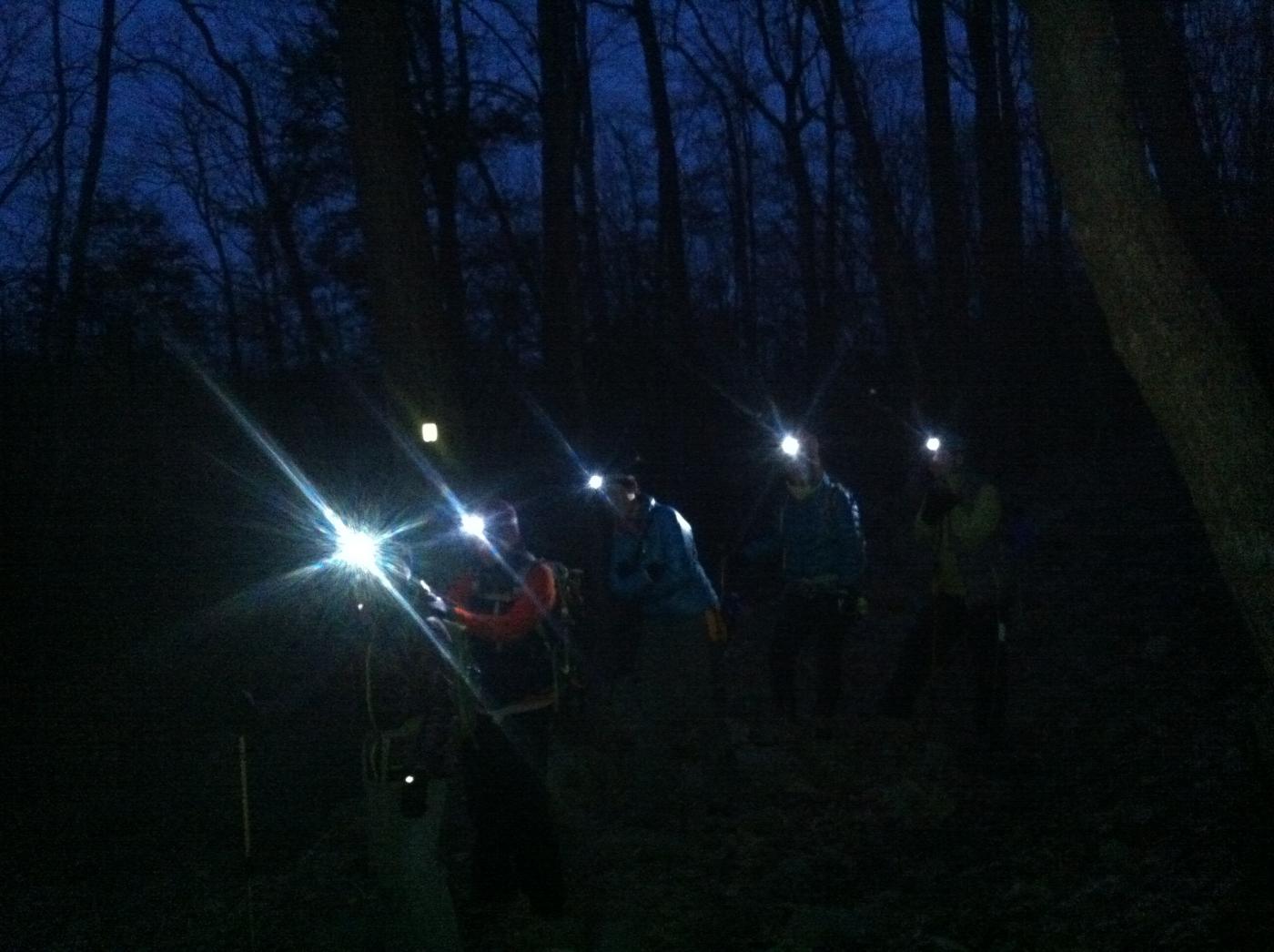 酷寒冬夜,翻山嶺,過溪河---夜山行之2 / Tuxedo/Sebago -- Night Hike Take 2 ... .. ..._图1-7