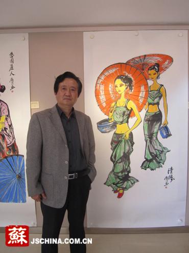 张广才云南写生作品走进南京社区 展现民族丽人曼妙身影_图1-4