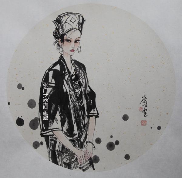张广才云南写生作品走进南京社区 展现民族丽人曼妙身影_图1-5