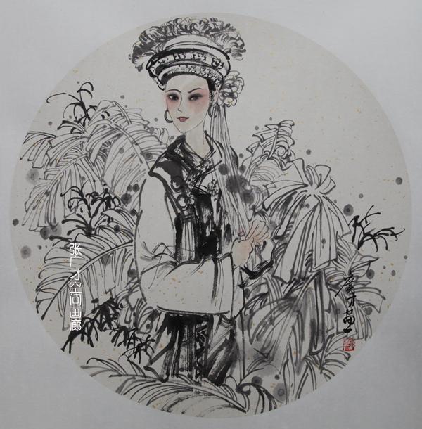张广才云南写生作品走进南京社区 展现民族丽人曼妙身影_图1-6