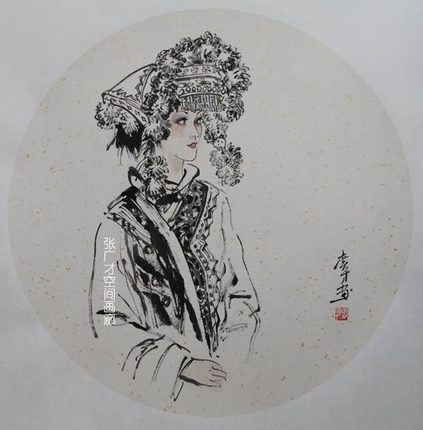 张广才云南写生作品走进南京社区 展现民族丽人曼妙身影_图1-8