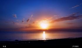 青海湖拍日出