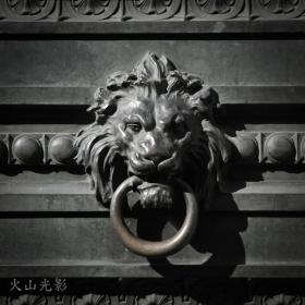 【火山光影】 狮子雕塑