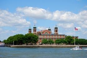 纽约哈德逊湾的蓝天记忆