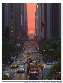 """纽约再现""""曼哈顿悬日""""美景"""