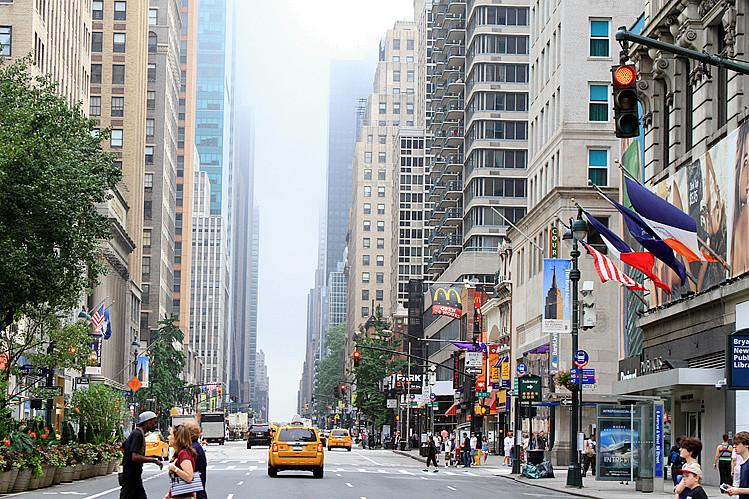 记录我熟悉的城市《曼哈顿》的晨雾_图1-3