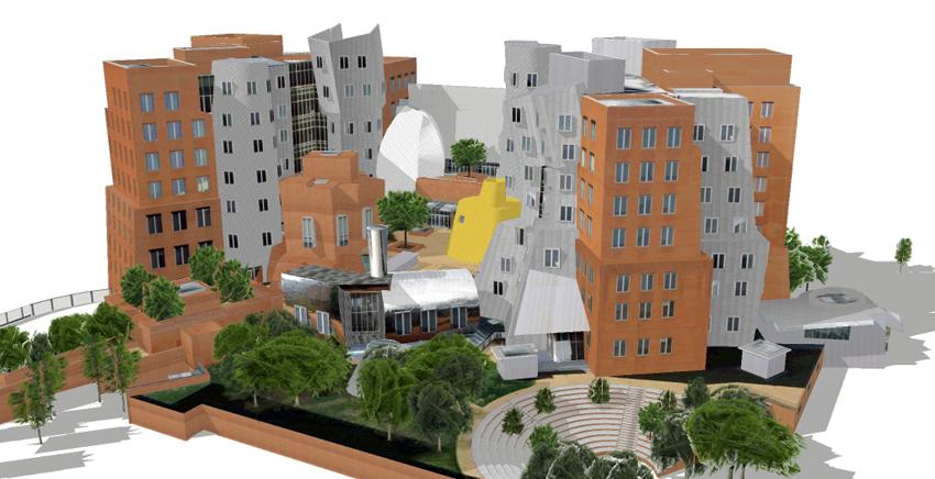《酒一船原创摄影》:色彩空间入梦流 - MIT 的32号楼_图1-2
