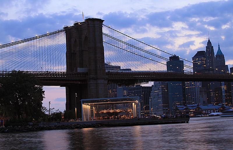 一组《Brooklyn桥夜景灯影》_图1-2