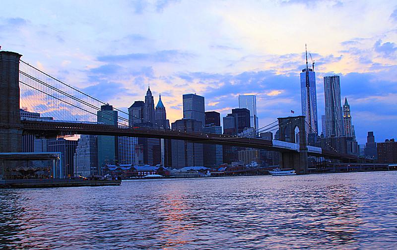 一组《Brooklyn桥夜景灯影》_图1-3
