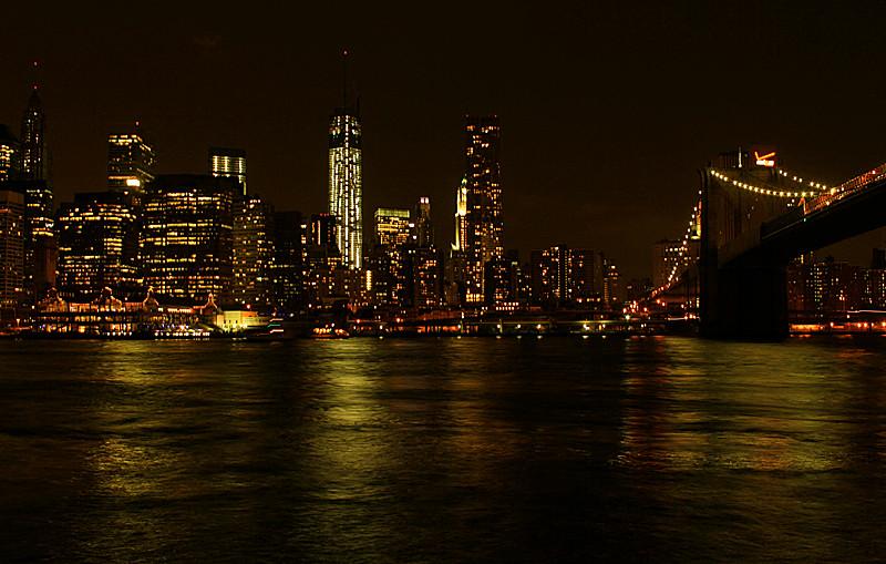 一组《Brooklyn桥夜景灯影》_图1-4