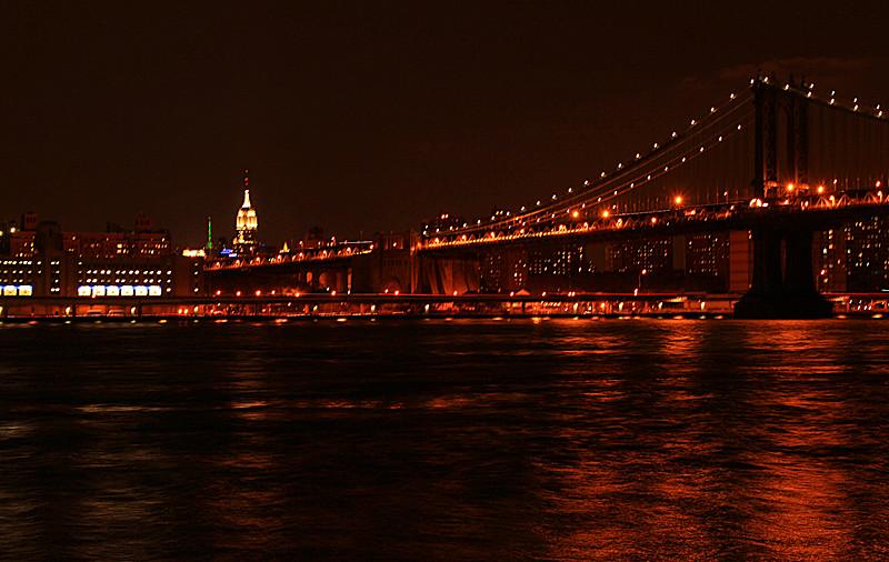 一组《Brooklyn桥夜景灯影》_图1-5
