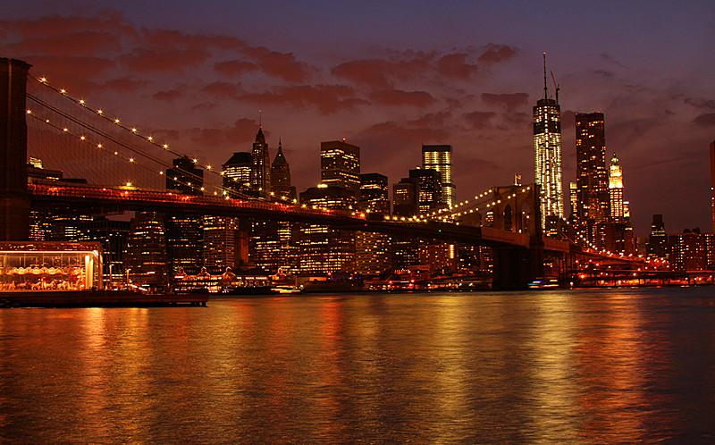 一组《Brooklyn桥夜景灯影》_图1-6