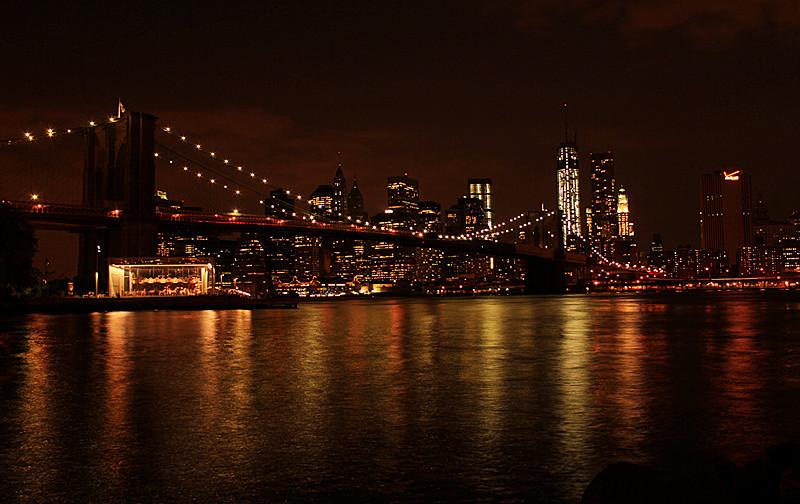 一组《Brooklyn桥夜景灯影》_图1-8