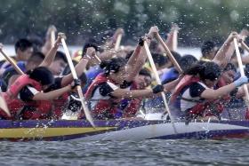紐約龍舟攝影比賽 获第一名: 「最後衝刺」