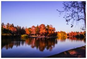 夕阳下的莱格湖