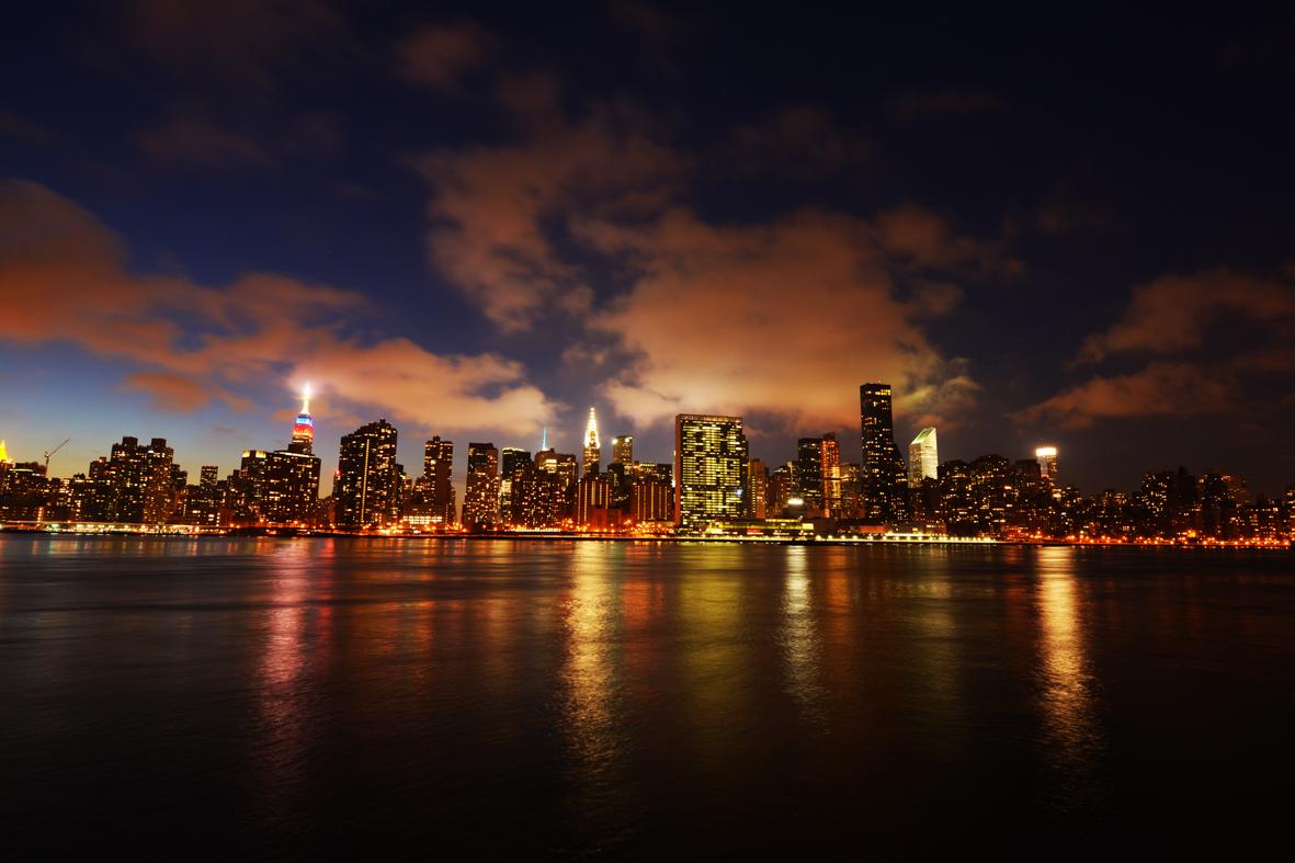 走-拍  曼哈顿东河夜景_图1-2