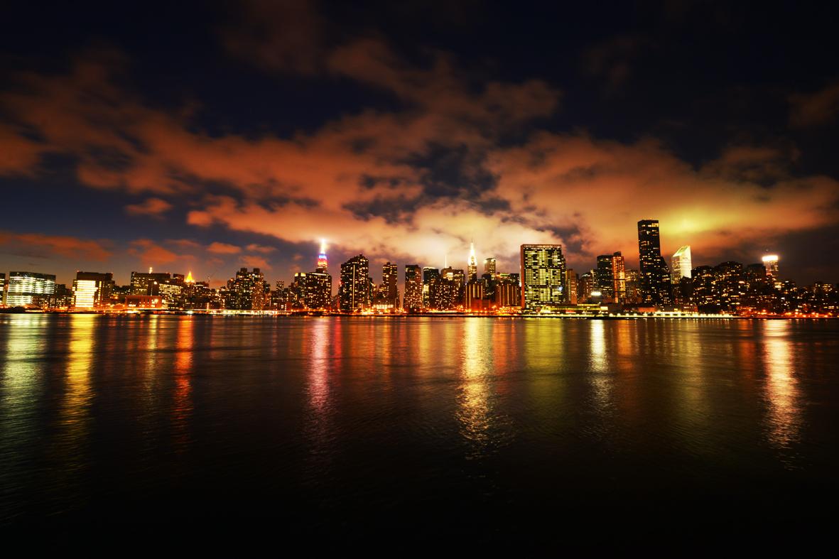 走-拍  曼哈顿东河夜景_图1-3