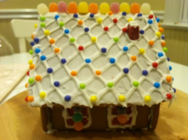 感恩节的亲子手工 和女儿合力完成的姜饼小屋_图1-3