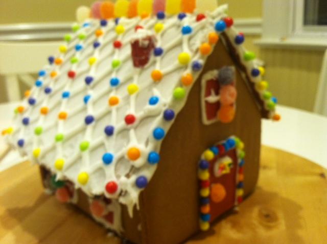 感恩节的亲子手工 和女儿合力完成的姜饼小屋_图1-2