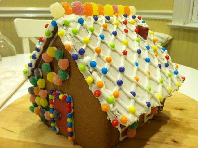 感恩节的亲子手工 和女儿合力完成的姜饼小屋_图1-4