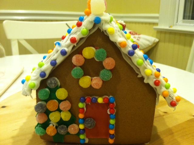 感恩节的亲子手工 和女儿合力完成的姜饼小屋_图1-5