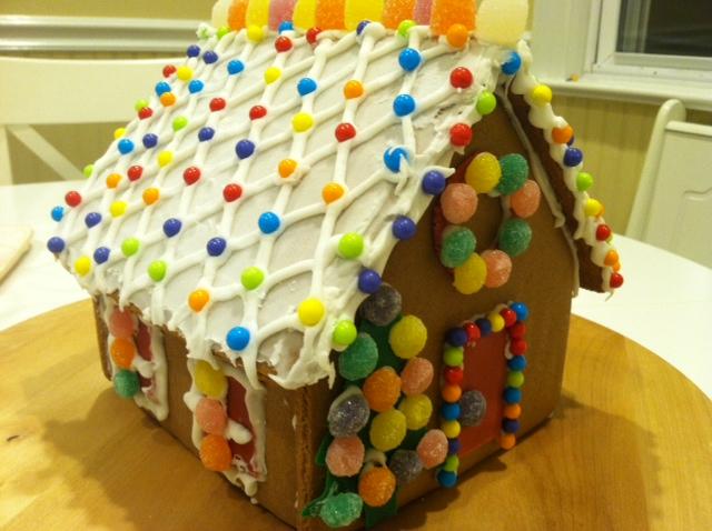 感恩节的亲子手工 和女儿合力完成的姜饼小屋_图1-6
