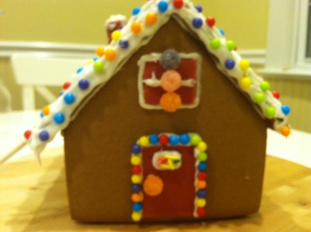 感恩节的亲子手工 和女儿合力完成的姜饼小屋_图1-1