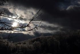 雪后的傍晚