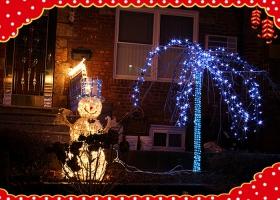 分享邻居家的平安夜的灯光!